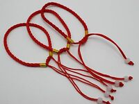 10 Braided Lucky Red String Rope Cord Jude Beaded Adjustable Bracelet