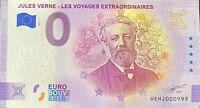 BILLET 0 EURO JULES VERNE FRANCE 2021    NUMERO 999