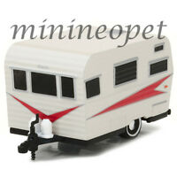GREENLIGHT 34010 B 1959 SIESTA TRAVEL TRAILER 1/64 DIECAST WHITE / RED