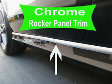 2001-2010 SATURN Chrome SIDE ROCKER PANEL Trim Molding Kit 2PC