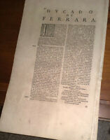 DUCADO DE FERRARA  romaniola o flaminia  secolo XVII  fogli 3