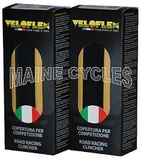 Veloflex Master clincher 700 X 23 black / gum sidewall 2 tires (1 pair)