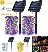 Solar String Lights Waterproof 300LED Fairy Xmas Outdoor Garden Home Lamp Decor