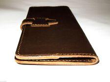 Saddleback Leather Slim Bifold Wallet Checkbook Cover Dark Coffee Brown Dcb