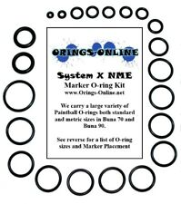 System X NME Paintball O-ring Oring x 2 rebuilds / kits