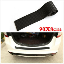 Carbon Fiber Lattice Car Plate Rear Bumper Guard Protector Rubber Pad Trim Cover