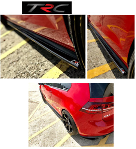 GENUINE Triple R Sideskirt splitters to fit VW Golf Mk7 GTi and GTD