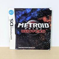 Metroid Prime Hunters Original Nintendo DS Instruction Booklet Manual