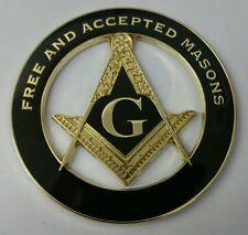 Freemason Masonic Free and Aceepted Masons Cut-Out Car Emblem