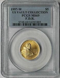 1997-W Franklin D Roosevelt FDR Modern Gold Commemorative $5 MS 69 PCGS US Vault