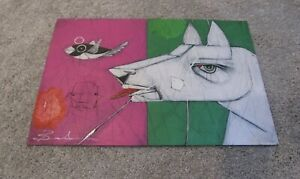 MICHAEL BANKS Outsider FOLK ART DOG & BIRD FISH  ALABAMA