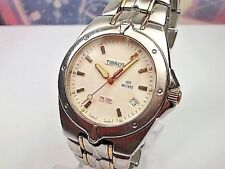 RELOJ TISSOT 1853 PR 200  CABALLERO DATE STEEL QUARTZ MEN'S WATCH