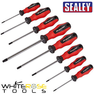 Sealey Torx Screwdriver Set PowerMAX Trx Star Hand Tools Magnetic 8pc