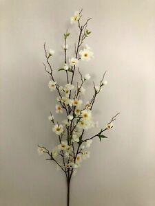 faux/silk apple blossom stem H120cm