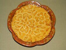 """Brown & Gold Floral Leaf Embossed Ceramic Trinket Dish Soap Dish 5.75"""""""