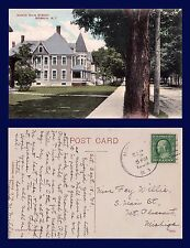 US NEW YORK MORAVIA NORTH MAIN STREET POSTED 1909 TO MOUNT PLEASANT MICHIGAN