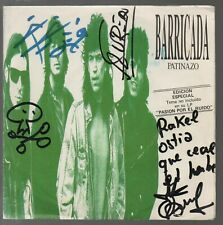 "Barricada Patinazo 7"" Single Spain 1989 Promo Firmado"