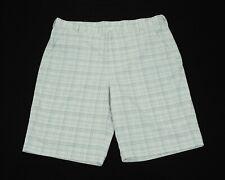 Under Armour UA Golf White Plaid Casual Tech Golf Shorts Mens 40