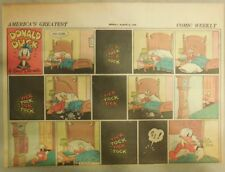 Donald Duck Sunday Page by Walt Disney from 3/21/1943 Half Page Size