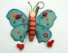 magnifique papillon sur ressort,décoration intérieure, enfant G-T5 bleu
