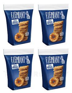 ELEPHANT Baked Squeezed Pretzels with Sea Salt Crackers Snacks 4 x 80g 2.8oz