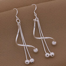 925 Sterling Silver lady jewelry cute charm women wedding party earring AE354