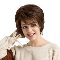 Parrucca da donna in veri capelli umani Parrucca corta a strati dritti Posticci