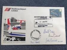 British Airways Concorde First Flight LHR - BAH 21st Jan 1976 Fully Signed Cover