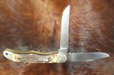 Schrade+ USA Uncle Henry 227UH Stag Folding Hunter Knife