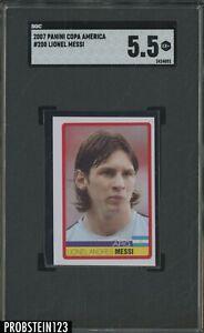 2007 Panini Copa America Soccer #200 Lionel Messi SGC 5.5 EX+