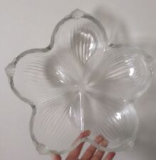 More details for vintage walther mikasa large clear ridged & frost glass 5 dish star buffet serve