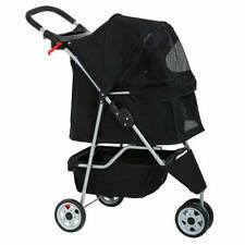 Refurbrished Pet Stroller Cat Dog Cage 3 Wheels Stroller Travel Folding Carrier