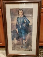 "Vintage 20"" x 28"" Wood Framed ""Blue Boy"" by Thomas Gainsborough Canvas Print"