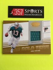 DAN MARINO 2004 LEAF CERTIFIED MATERIALS GOLD TEAM GAME USED JERSEY #D /150 SP