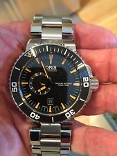 NEW 46 mm  ORIS DIVE WATCH--AQUIS. SMALL SECOND HAND.NEW IN BOX
