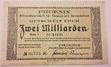 2 Milliarden Mark 1923 Reichsbanknote Reichsbankdirekrorium Banknote Papiergeld