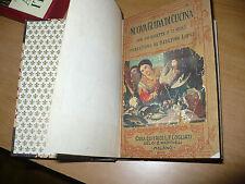 NUOVA GUIDA DI CUCINA 890 RICETTE 72 MENU PREFA. SABATINO LOPEZ COGLIATI ED.1926