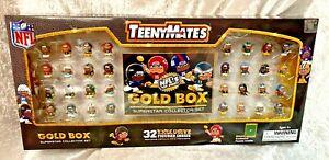 TeenyMates TM32C1 NFL Gold Box Superstar Action Figure Collector Set - 32 Piece