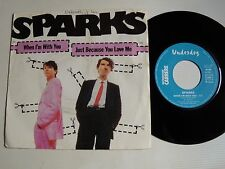 """SPARKS : When I'm with you / Just because you love me 7"""" 45T UNDERDOG 49.652"""