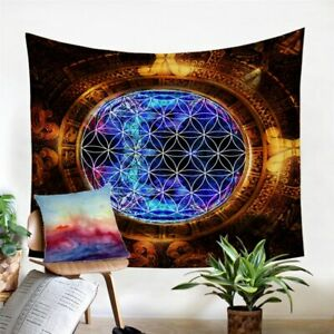 Flower Of Life Mayan Art Wall Tapestry Hanging Throw Cover Home Room Decoration