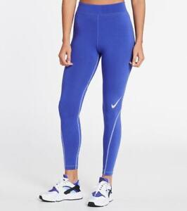 Nike Women's Sportswear Swoosh High Rise Leggings Lapis/Ghost DD5588-430 f