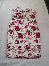 BNWT       Sirens & Starlets     size 18    IVORY SATIN  FLORAL  FITTED   DRESS