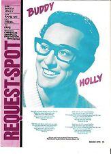 BUDDY HOLLY Rave On lyrics magazine PHOTO/Poster/clipping 11x8 inches