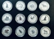 1999-2010 Australia Lunar Series I Complete SET 1 Oz 12 Coins BU Silver