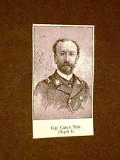Deputato nel 1886 Onorevole Capitano Carlo Turi di Napoli