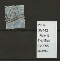 GB Queen Victoria Surface Printed SG142  Plate 19