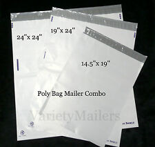 15 Poly Bag Mailer Variety Pack 3 Large Sizes Premium 32 Mil Quality
