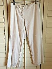 TRINA TURK Linen/Spandex WIDE LEG TROUSER PANTS CROPPED  White Lined BOOTCUT 2