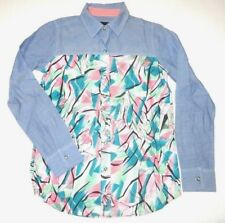 New Hurley Womens Wilson Button Up Woven Long Sleeve Shirt Top Blouse Small