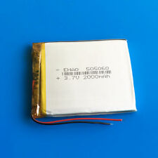 3.7V 2000mAh 505060 Li Po Polymer Battery Power for DVD GPS Camera Mobile Phone